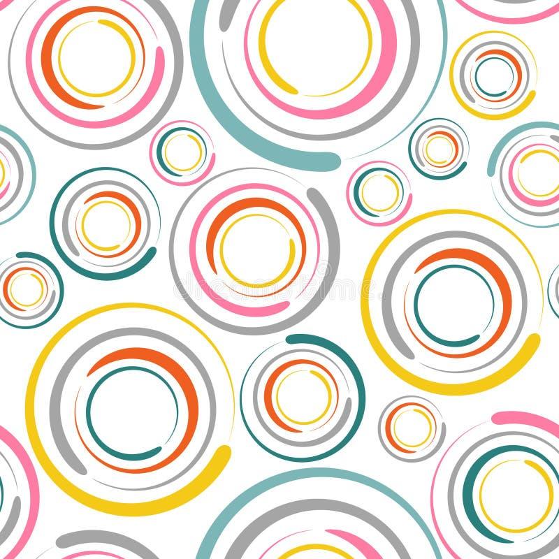 okręgi deseniują bezszwowego ilustracja wektor