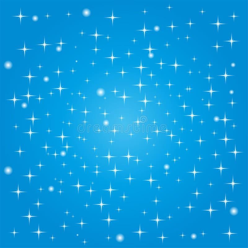 Okręgi, gwiazdy, tło, ilustracja wektor