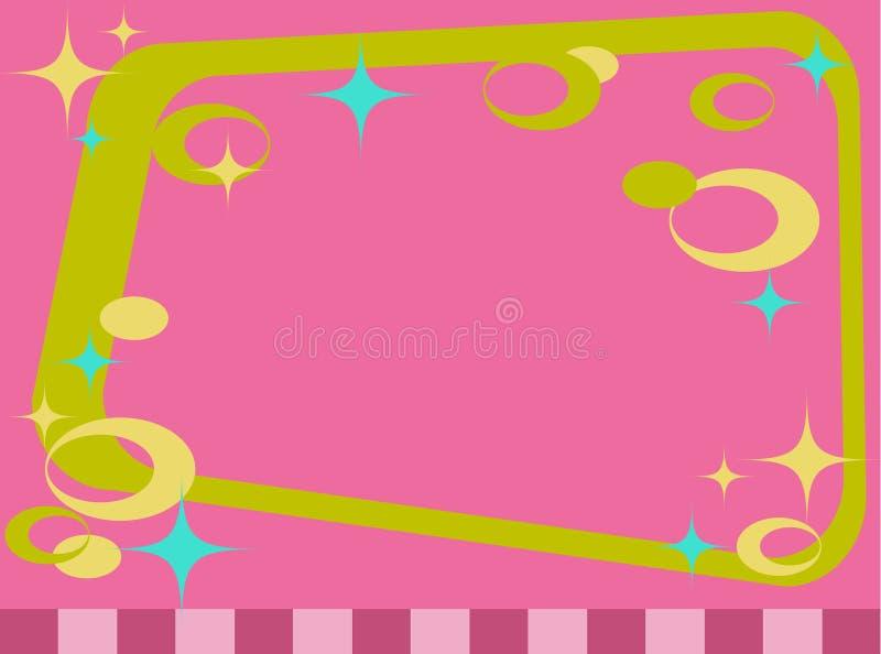 okręgi obramiają retro gwiazdy royalty ilustracja