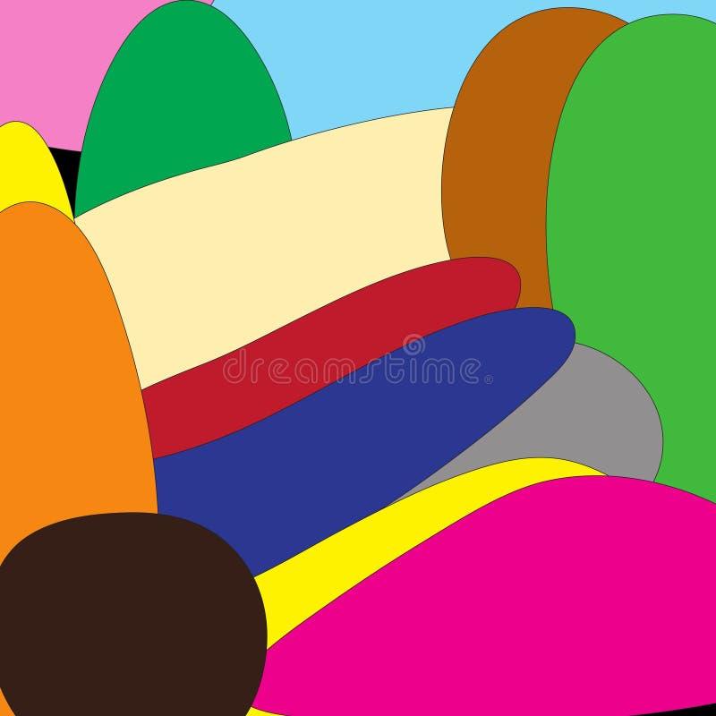 Okręgi z kolorowymi krzywami fotografia royalty free