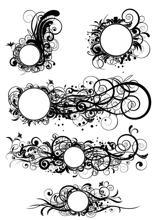 okręgu abstrakcjonistyczny projekt ilustracja wektor