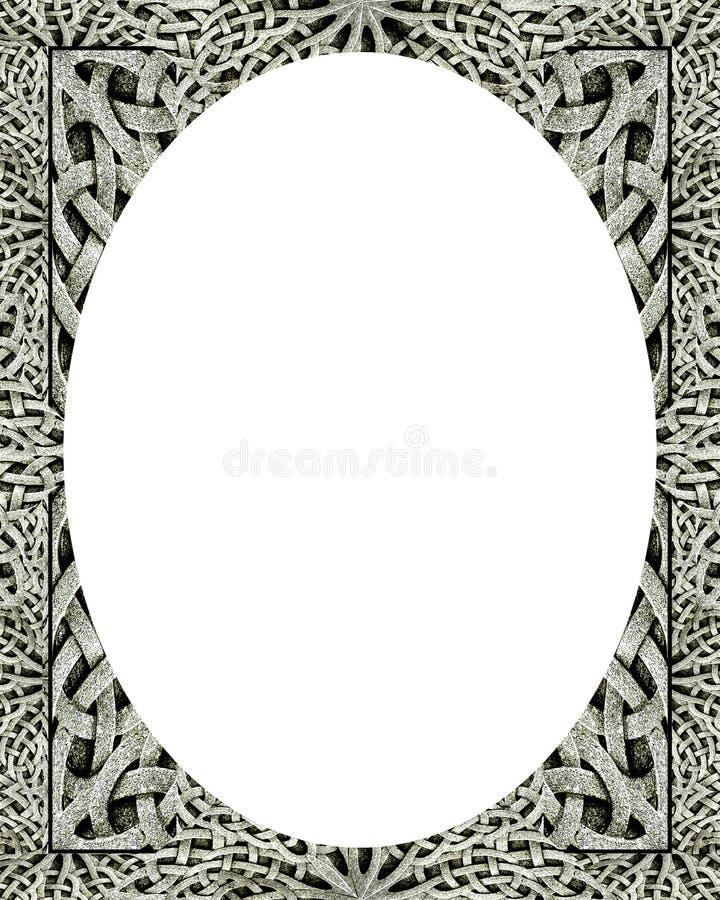 Okręgu bielu ramy tło z Dekorować granicami ilustracja wektor