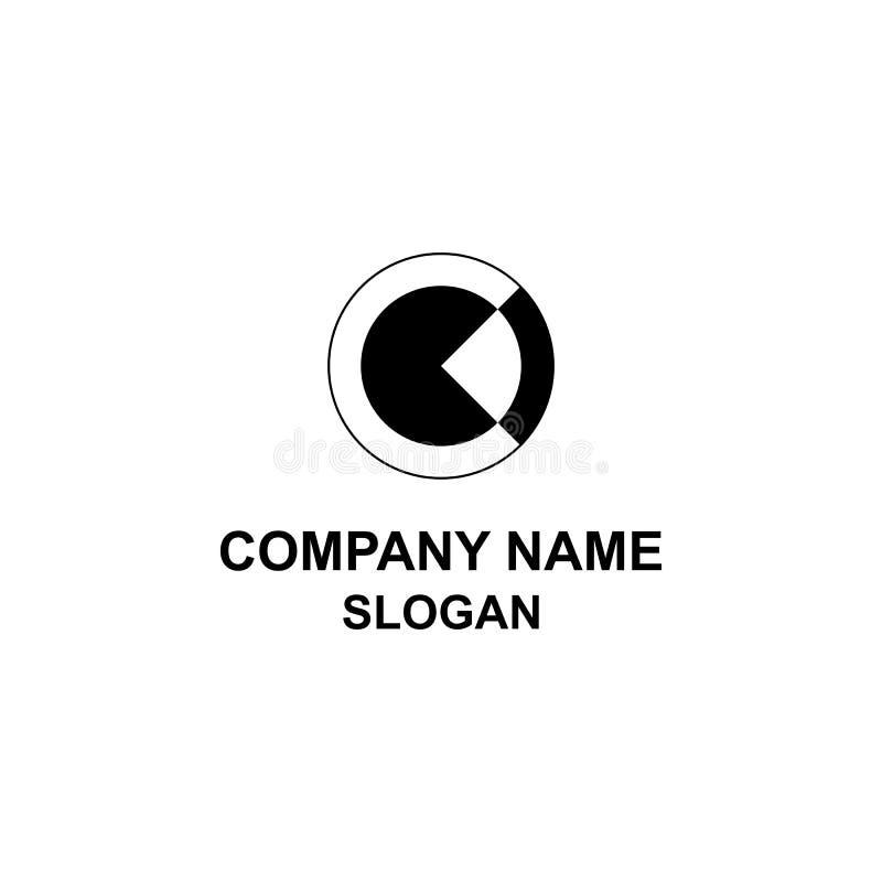 Okręgu C listu inicjału negatywu przestrzeni logo royalty ilustracja