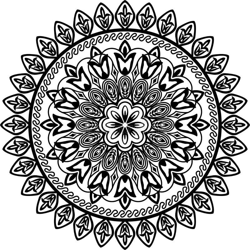 okręgu geometryczny kwiecisty ilustracji