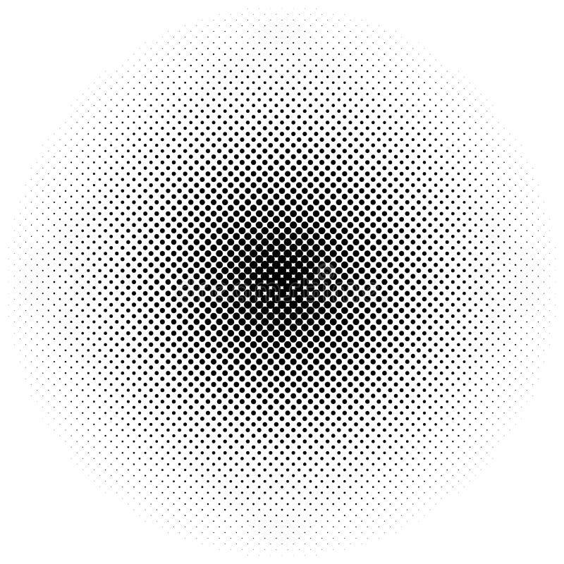 Okręgu halftone element Monochrom kropkujący kurenda wzór ilustracji