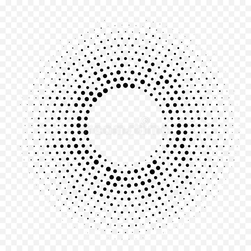 Okręgu halftone gradientu geometrycznego kropkowanego wzoru tekstury wektorowy abstrakcjonistyczny biały minimalny tło royalty ilustracja