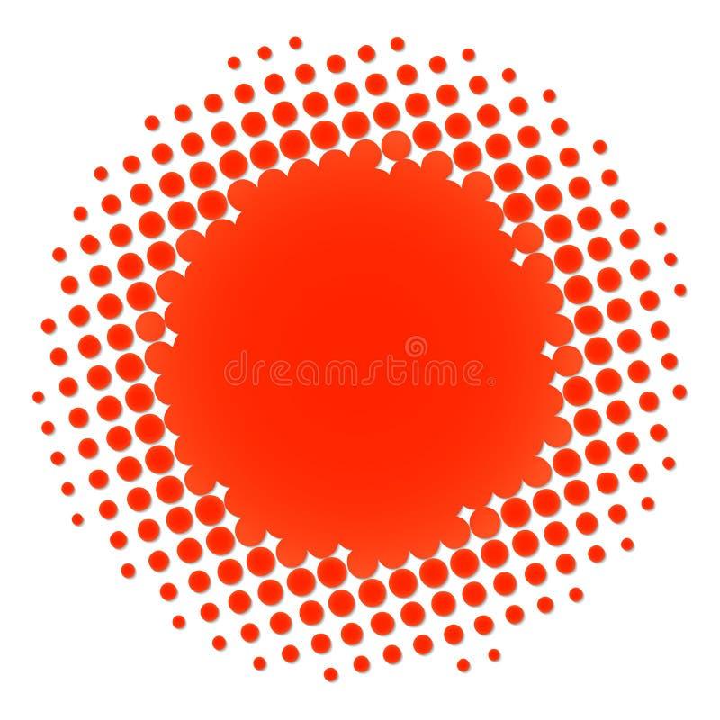 okręgu halftone pomarańcze ilustracja wektor