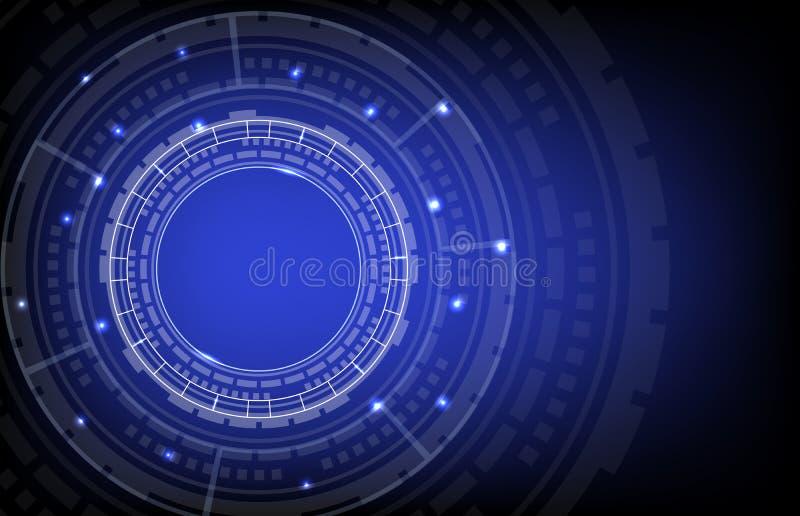 Okręgu hud technologii cyfrowej tło ilustracja wektor