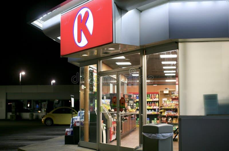Okręgu K sklep wielobranżowy zdjęcie stock