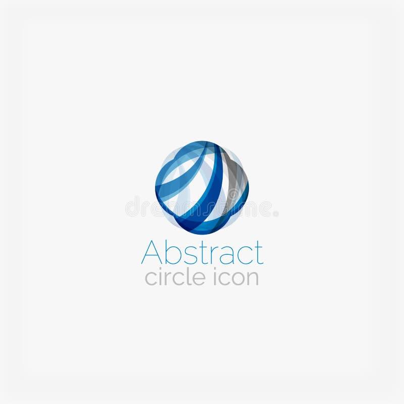 Okręgu kształta abstrakcjonistyczny logo ilustracji