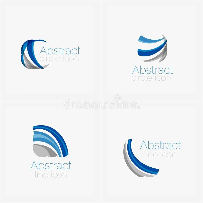 Okręgu kształta abstrakcjonistyczny logo ilustracja wektor