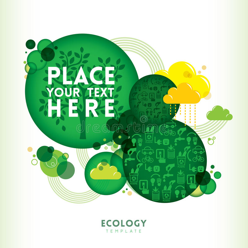 Okręgu kształta Eco projekta układ ilustracji