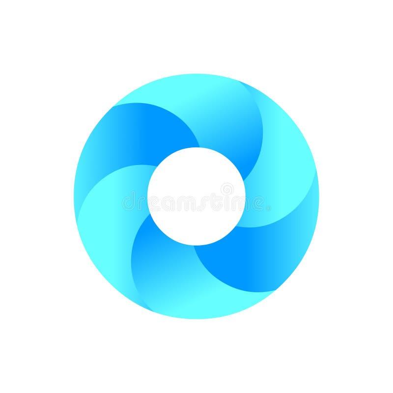 Okręgu logo Błękitny okręgu loga ikony wektor ikona abstrakcyjna royalty ilustracja