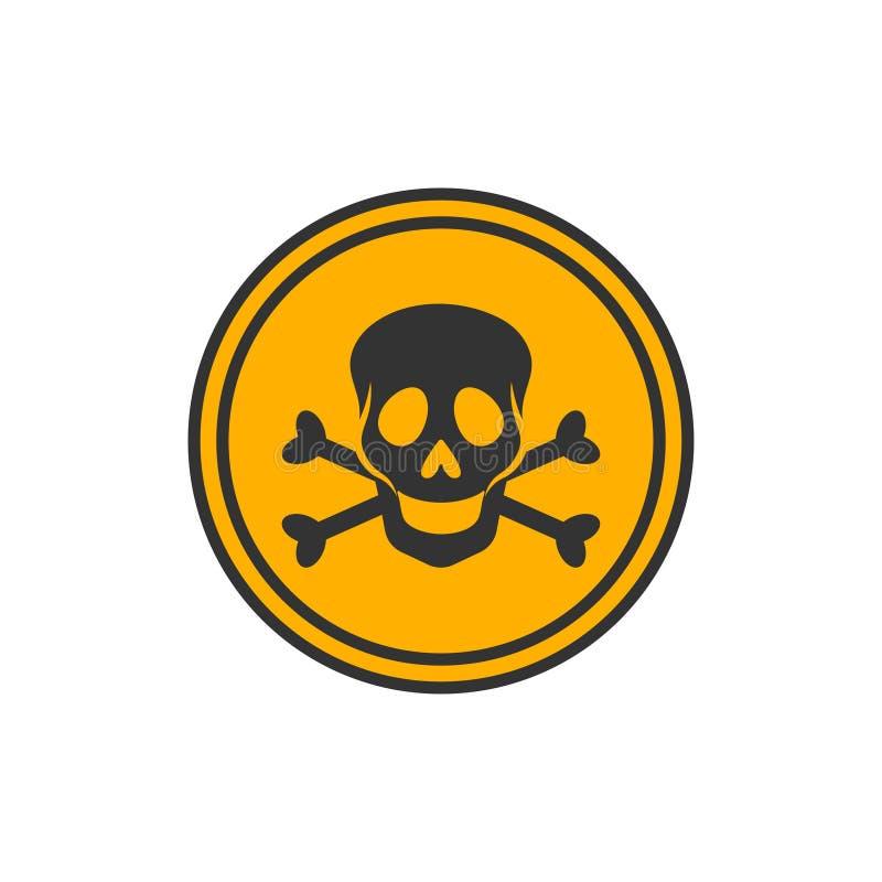 Okręgu niebezpieczeństwa żółty znak royalty ilustracja