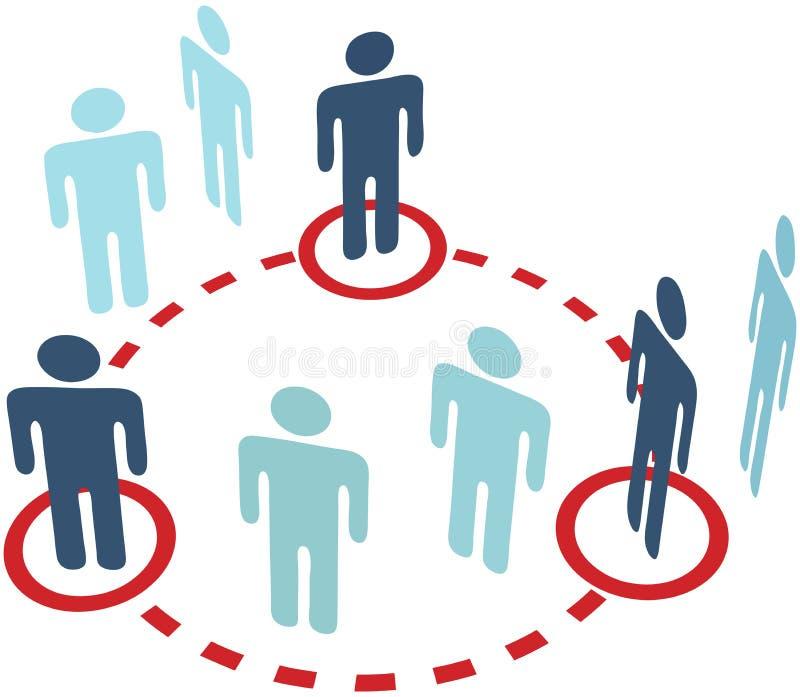 okręgu podłączeniowi osoby wtajemniczonej sieci ludzie ogólnospołeczni royalty ilustracja