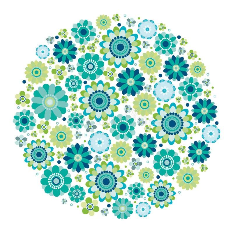 okręgu projekta kwiatu zieleń royalty ilustracja