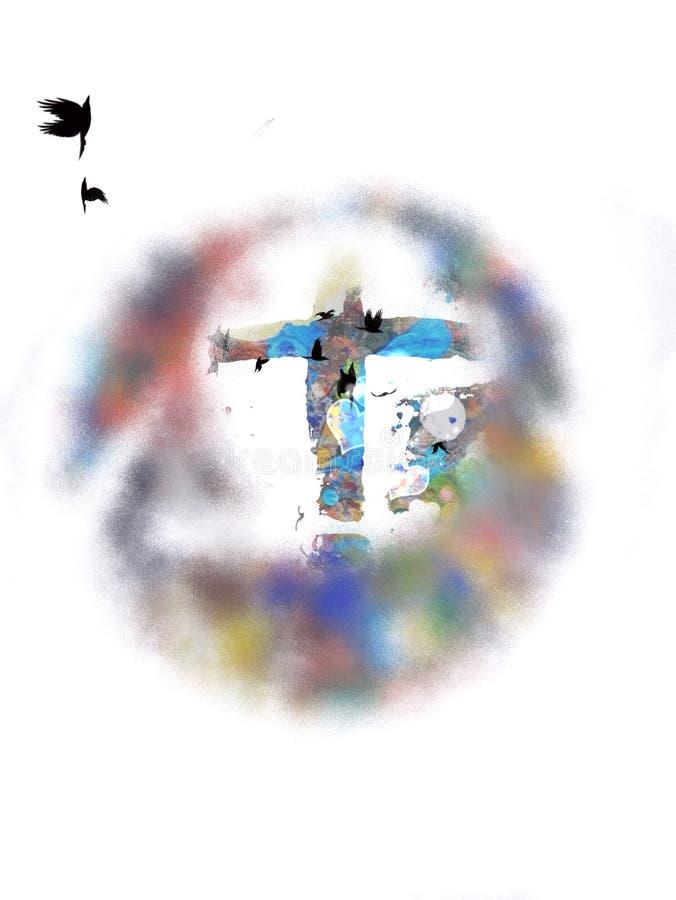 okręgu przecinająca medalionu czerwień obraz stock