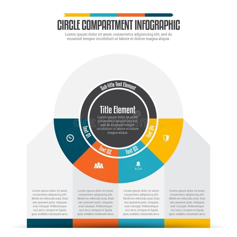 Okręgu przedział Infographic ilustracja wektor