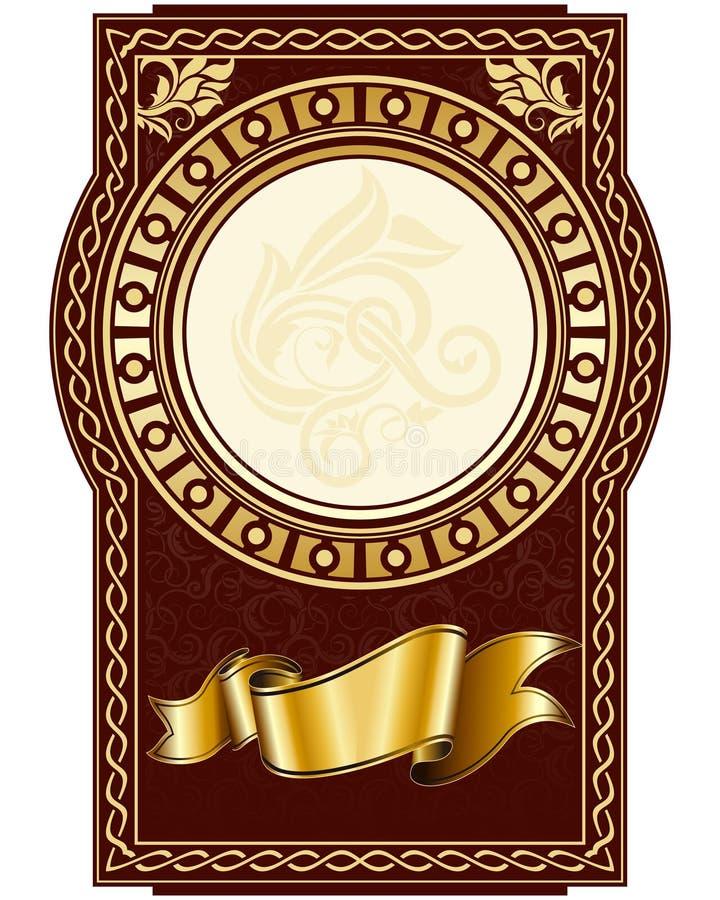 okręgu ramy etykietka ilustracja wektor