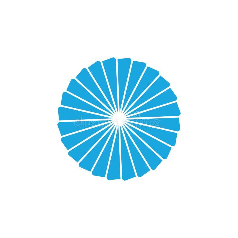 Okręgu słońca linii sztuki zawijasa logo turbinowy wektor ilustracji