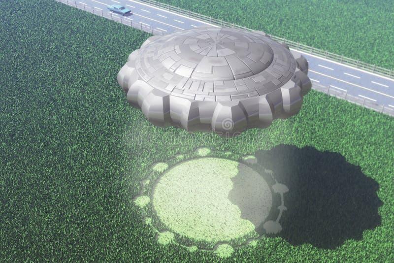 okręgu uprawy ufo royalty ilustracja