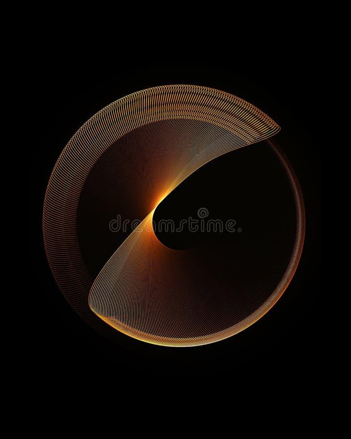 okręgu złoty ruchu target1092_0_ ilustracja wektor