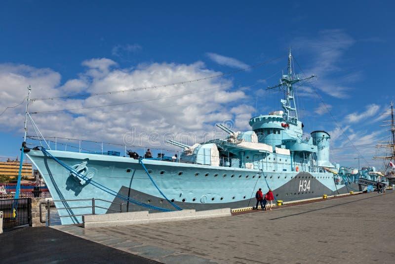 Okręt wojenny Blyskawica zdjęcie stock