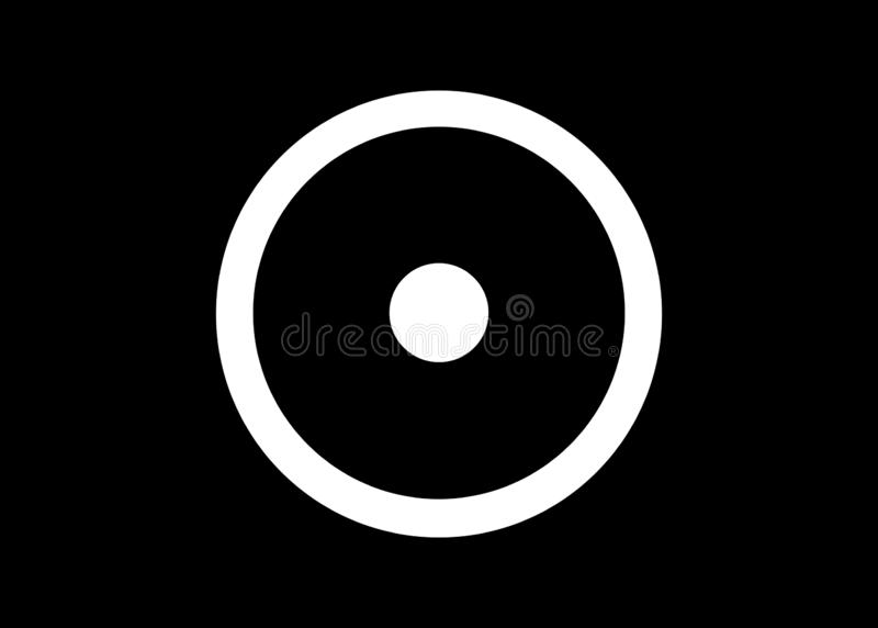 Okr??aj?cy kropka alchemical symbol dla s?o?ca Antyczny symbol reprezentuje r??norodnych s?o?ce bog?w i s?o?ce Uk?adu S?onecznego ilustracja wektor