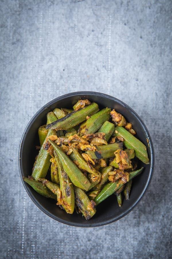 Okra Curry Recipe stock image