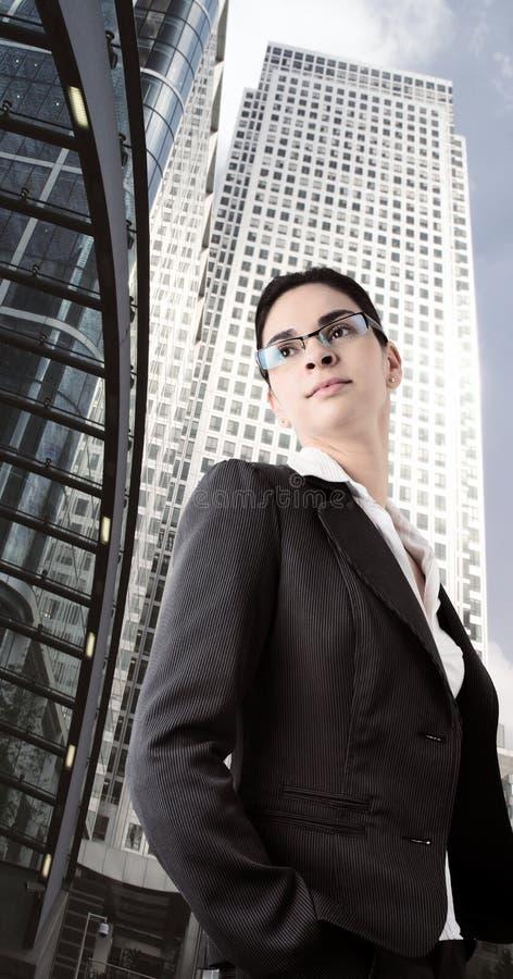 określić bizneswoman obraz stock