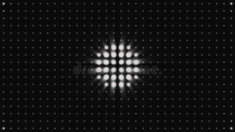 OKREGÓW świateł żarówka, animacja, rendering, tło, pętla Kółkowy halo wzoru tło, dyskoteki tło, sygnalizuje ilustracja wektor