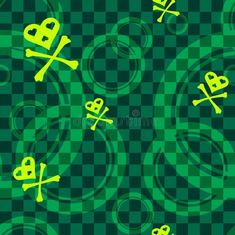 okregów emo zieleni wzór bezszwowy ilustracji