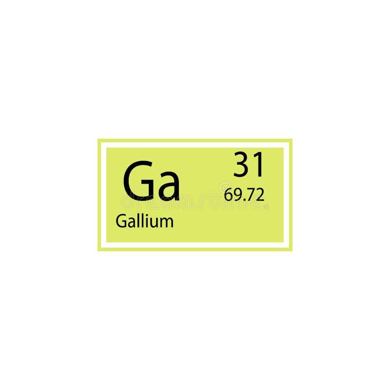Okresowa stołowego elementu gal ikona Element substancja chemiczna znaka ikona Premii ilości graficznego projekta ikona znaki i ilustracja wektor