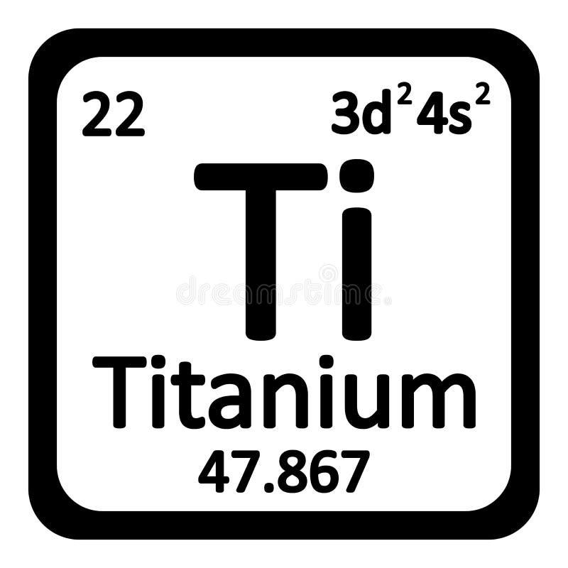 Okresowa stołowego elementu titanium ikona royalty ilustracja