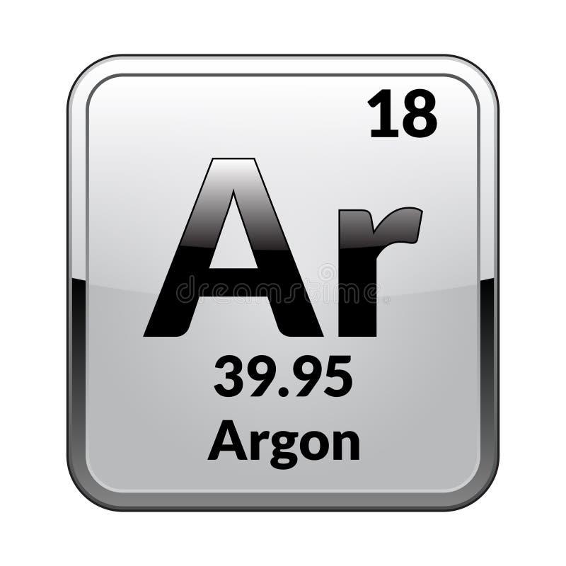 Okresowy stołowego elementu argon wektor royalty ilustracja
