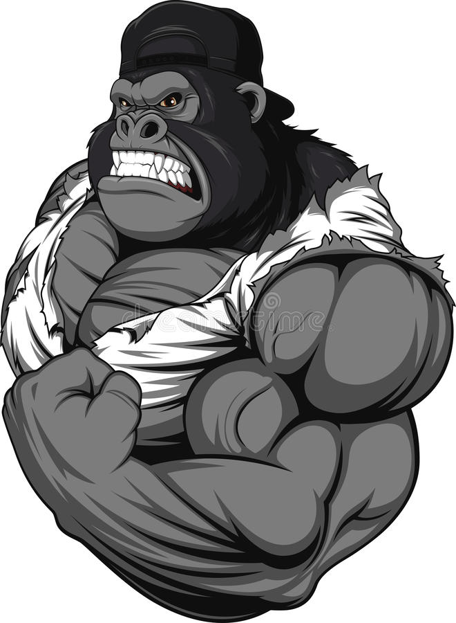 Okropna goryl atleta ilustracji
