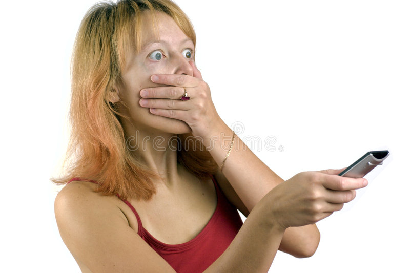 okropna kobieta krzyczała obraz stock