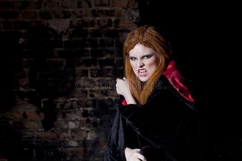 Okropna wampir kobieta obrazy royalty free