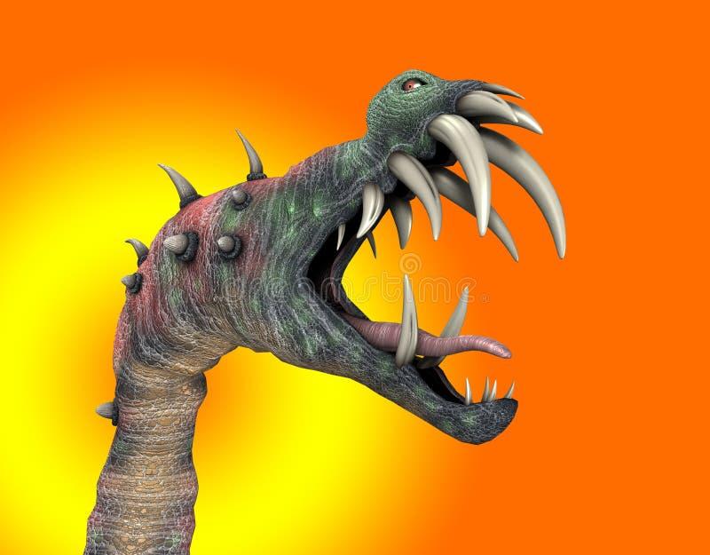Okropny Halloweenowy Potwór ilustracja wektor