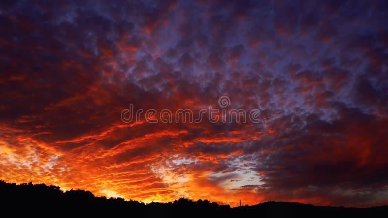 Okropny niebo zdjęcie royalty free