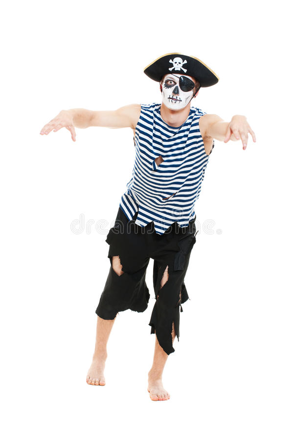 okropny pirata portret fotografia stock