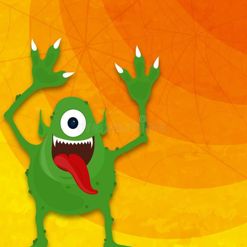 Okropny potwór dla Halloween przyjęcia royalty ilustracja