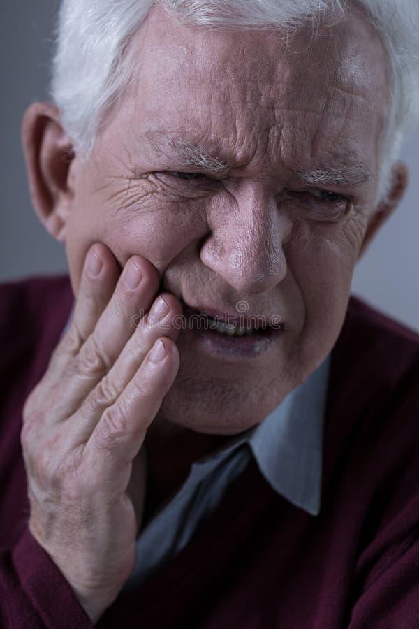 Okropny toothache obrazy stock