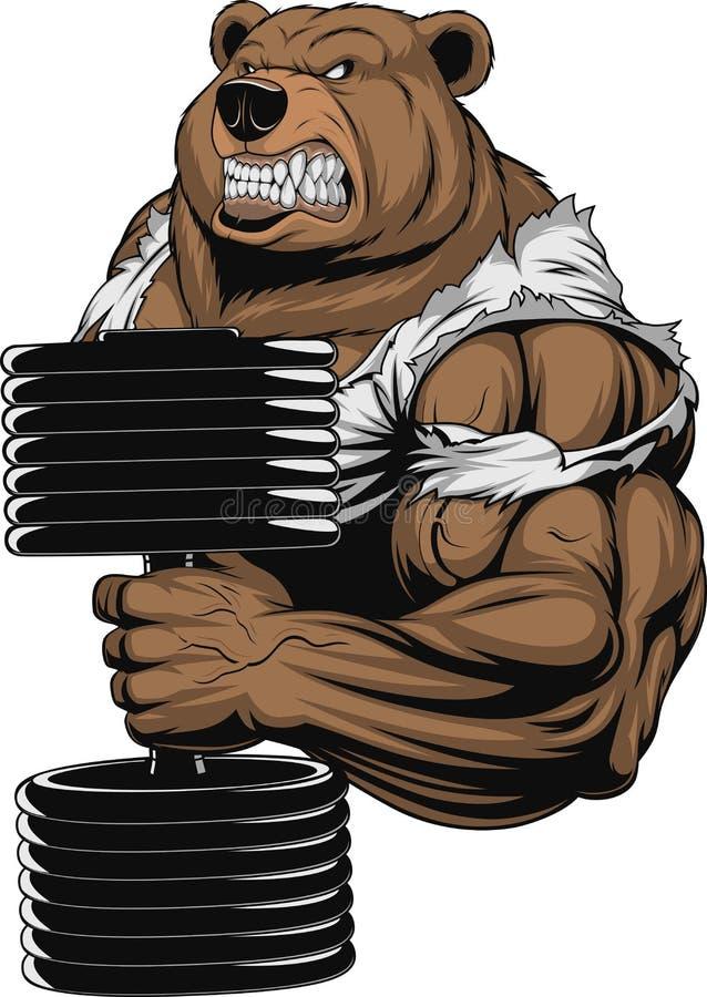 Okrutnie Niedźwiadkowa atleta ilustracja wektor