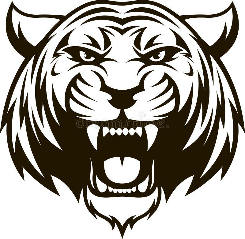 Okrutnie tygrys głowa royalty ilustracja