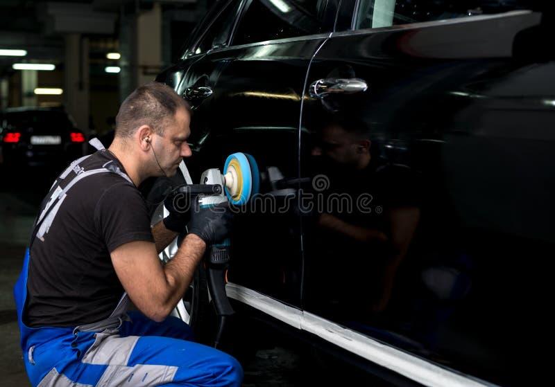 Okrzesany czarny samochód zdjęcia royalty free