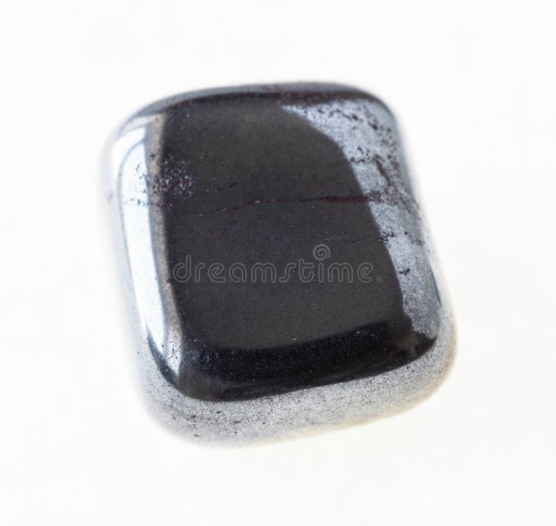 okrzesany hematytu klejnot na bielu (haematite) zdjęcia royalty free