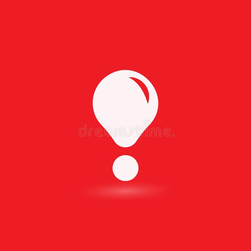 Okrzyk ocena Uwagi sieci wiadomo?? znak zagro?enia Nowo?ytna abstrakcjonistyczna wektorowa ikona P?aski infographic element, szab ilustracja wektor