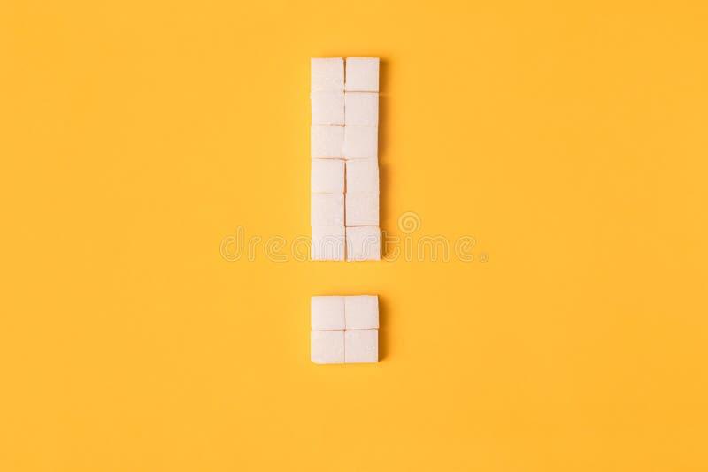 Okrzyk oceny cukier fotografia stock