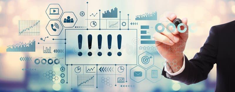 Okrzyk oceny z biznesmenem ilustracji